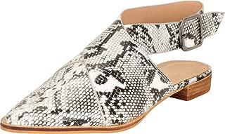 Cambridge Select Women's Pointed Toe Crisscross Strappy Slingback Low Heel Mule