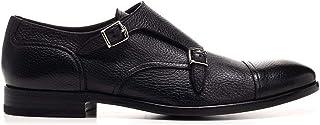 Luxury Fashion | Henderson Baracco Men 6420720NERO Black Leather Monk Strap Shoes | Spring-summer 20