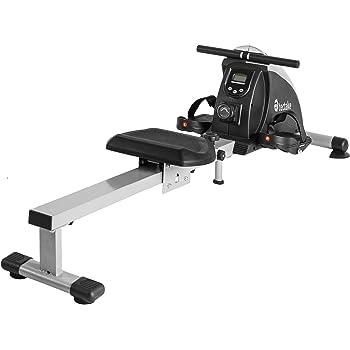 tectake Rameur d'appartement Appareil de Fitness Musculation Cardio Training + écran LCD