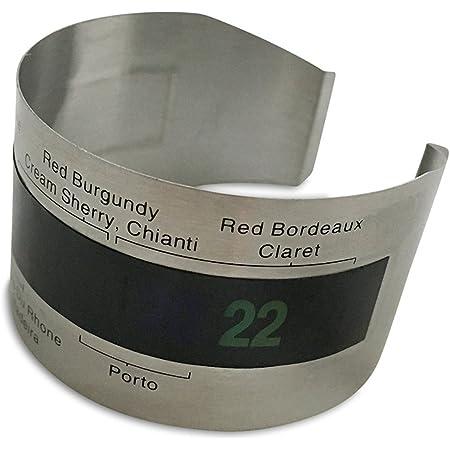 Heyuni.サーモメーター (ワイン温度計) ステンレス製 ワインサーモ ワインボトル温度計の温度