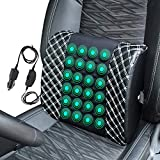 Tusscle Lumbar Support Cushion,Car Seat Massage Cushion,Back Massager Electric Massage Support Cushion,for Car, SUV, Truck,White