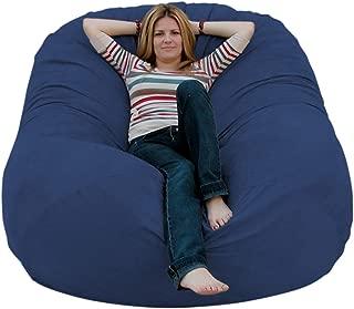 Cozy Sack 6-Feet Bean Bag Chair, Large, Navy