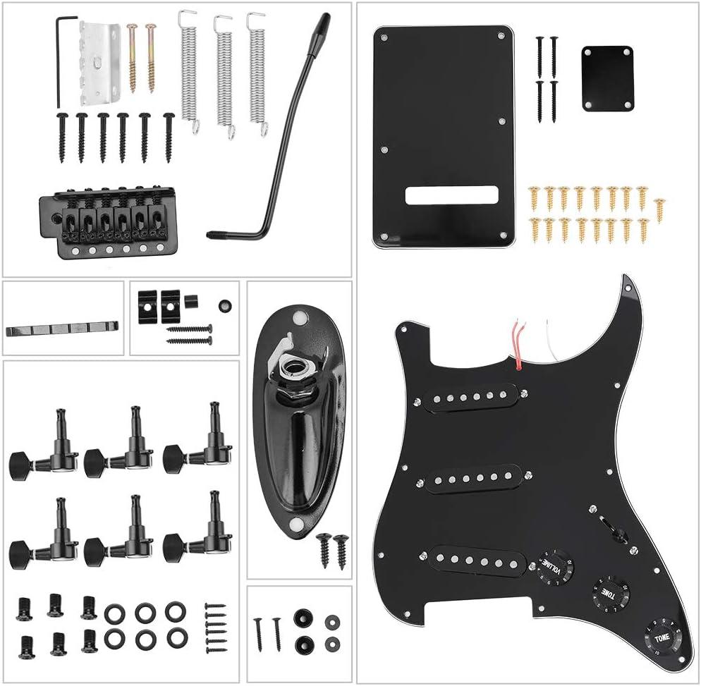 Studyies Sistema de Puente de contraportada, Kit de Guitarra eléctrica Uso Diario de Larga duración Mano de Obra Fina Portátil para Guitarras Estilo ST para guitarristas