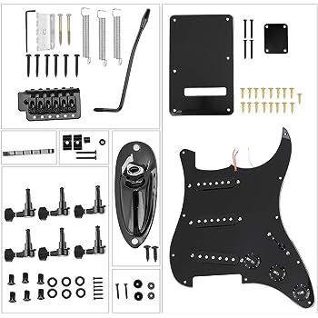 Alomejor Kit de Guitarra eléctrica de Bricolaje, 1 Juego de Estilo ...