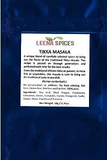 LEENA SPICES – Tikka Masala Seasoning Powder Spice – Gluten Free Mix – No Color Or Salt – Mild Dry Blend - Indian Tandoori Chicken Grill Recipe Included – Enjoy The Delicious Taste.