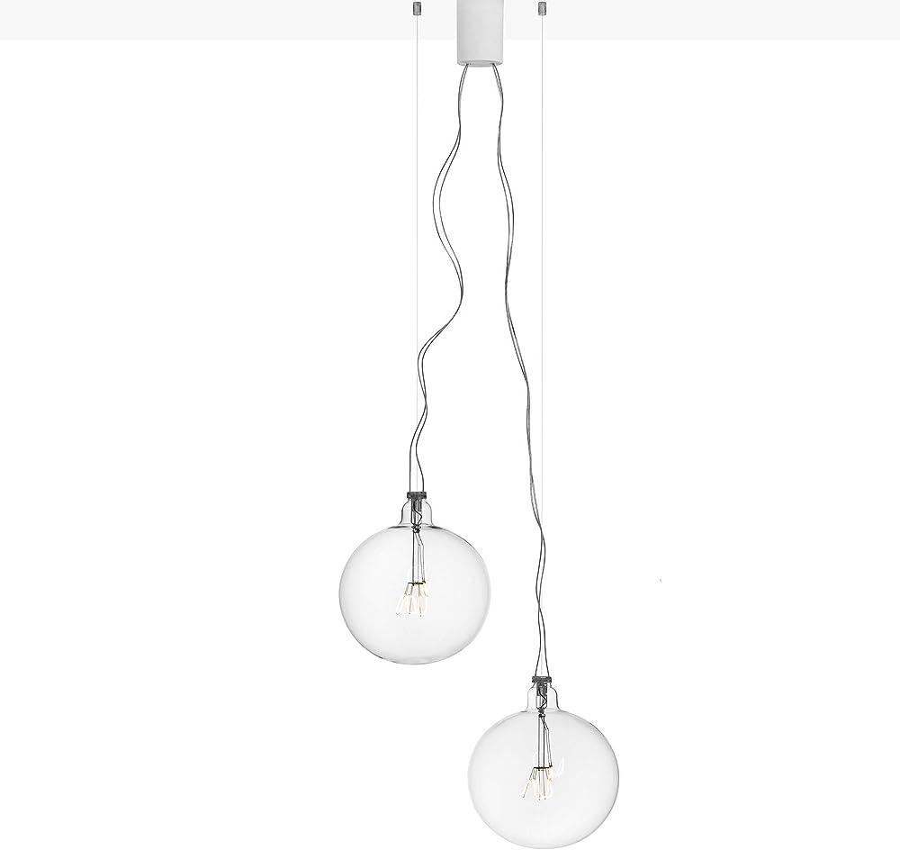 Flos bulbo - lampadario a sospensione con cristalli F1050000