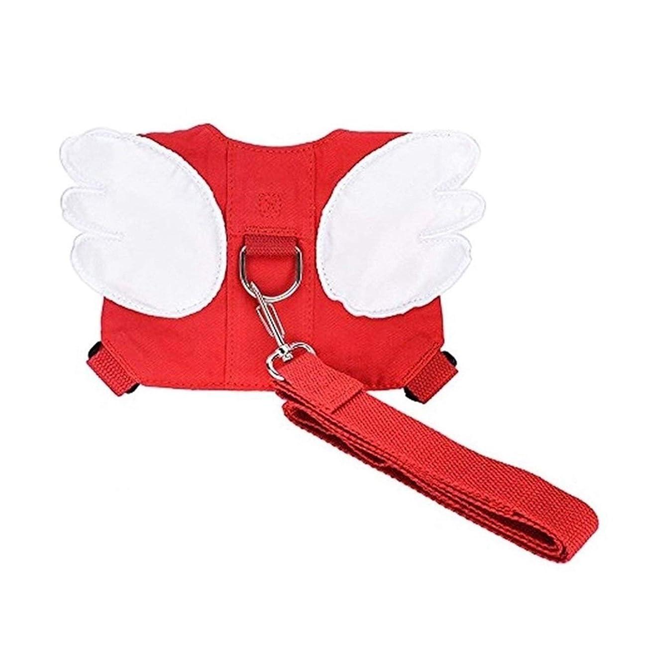 スチュアート島固執ロードブロッキングファッション アンチ失われたバックパックでは子供のトラクションロープ 優れた柔軟性 (Color : Red)