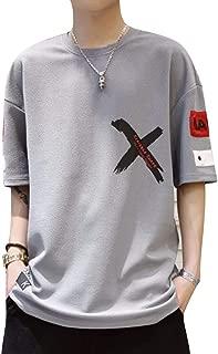 [Magu・Liaison(マグリエゾン)] Tシャツ 五分袖 ビッグシルエット カジュアル ストレッチ 速乾 カットソー メンズ