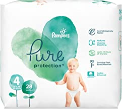 Pampers Pure Protection Size 4 Essential Pack 28 Nappies