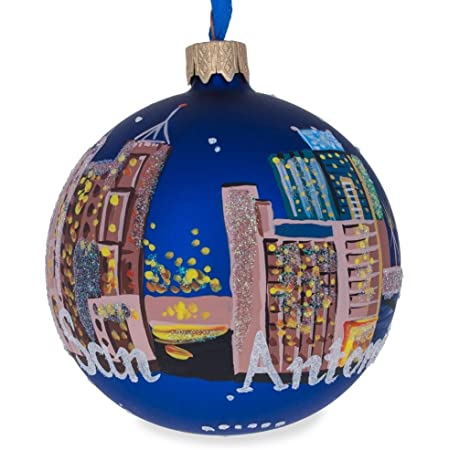 BestPysanky Houston Texas Glass Ball Christmas Ornament 3.25 Inches