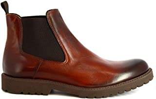 LEONARDO SHOES Luxury Fashion Mens 042SIVIGLIAQUEBRACHO Brown Ankle Boots | Season Permanent