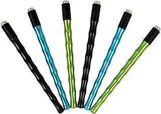 RANVI Stainless Steel Brows Microblading Tool 6 PCS Microblade Handle Permanent Makeup Supplies (2 blacks, 2 greens, 2 blues)