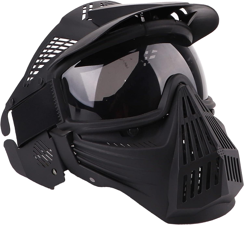 NINAT Airsoft Mask Tactical Masks Full Face with Lens Goggles Eye Protection