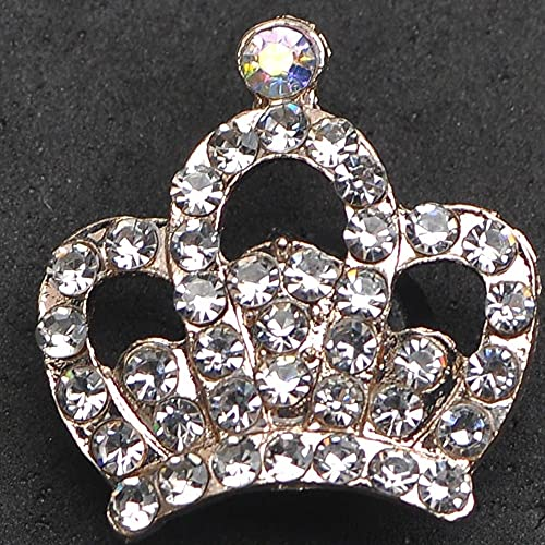 Crown Bling Rhinestone Designer Charms Shoe Accessories for Croc Shoes Sandals Decoration Metal Tag Letter Accesorios Custom 22