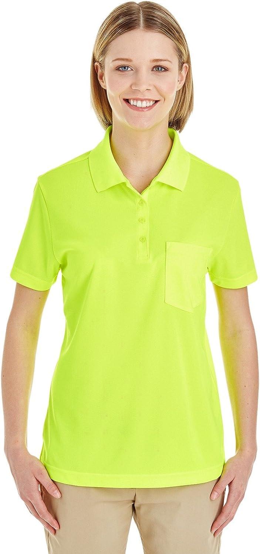 Ash City Core 365 Ladies Origin Performance Piqué Polo with Pocket 2XL SAFTY Yellow 691