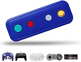 Sokolp Wireless Adapter for Nintendo Switch, Works with Wired Gamecube Classic Edition Controller (Blue)