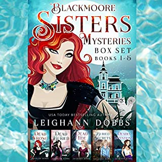 Blackmoore Sisters Cozy Mysteries Box-Set Books 1-5 audiobook cover art