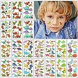 Tatuajes Temporales Niños Pegatinas, KEELYY 20 Hojas Dinosaurio Tatuaje Temporales Tatoos Impermeables Para Niños Niñas, Regalos Para Fiestas de Cumpleaños Infantiles