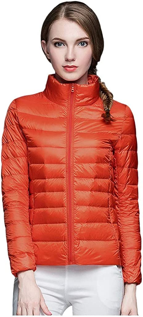 Jumaocio Quilted Jacket Womens Solid Colr Padded Slim Fit Down Jacket
