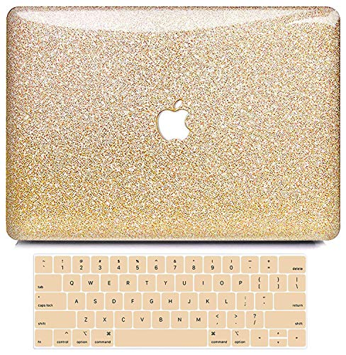 MacBook Pro 13 Inch Case 2019 2018 2017 2016 Release A2159/A1989/A1706/A1708, B BELK Shining Bling Crystal Smooth Light Weight PC Hard Case with Keyboard Cover for Mac Pro 13 with/Without Touch Bar