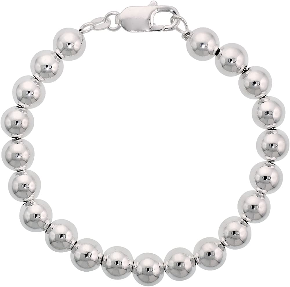 Sterling Silver Bracelet With Plain Silver 7 INCH
