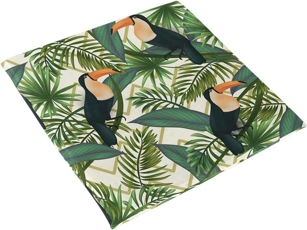 Recommendation Tropical Leaves Birds Seat Cushion Foam Very popular Chair Memory Pad C