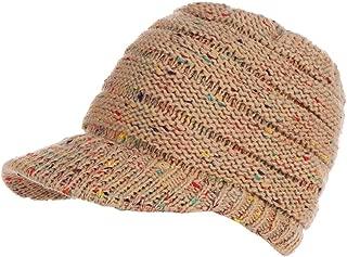 Jojckmen Girl Casual Crochet Women Knit Hat Baseball Cap Unisex Winter Visor Beanie