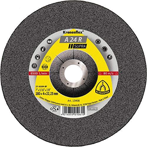 KLINGSPOR KLI-13418-1 13418 A 24 R Schruppscheiben 180 x 8 x 22,23 mm gekröpft Inhalt: 1 Stück