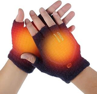 ヒーター手袋 USB接続 ヒーターグローブ 加熱 指なし 防寒 あったか 手袋 ヒーター内蔵 冬用 暖かい 男女兼用 暖房USB手袋