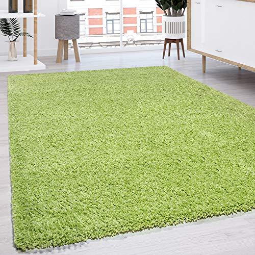 Shaggy - Tappeto A Pelo Lungo in Diversi Colori E Misure, Dimensione:160x220 cm, Colore:Verde
