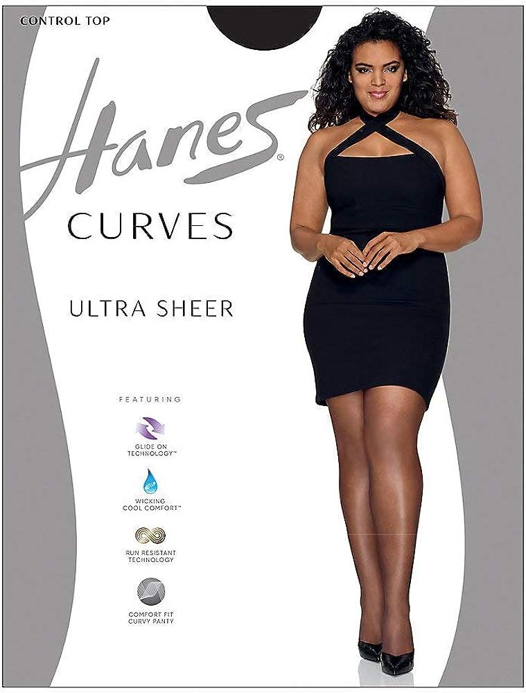 Hanes womens Hanes Curves Ultra Sheer Legwear