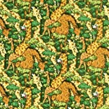 Fat Quarter Patchworkstoffpaket, Jungle Jam Giraffe süße,