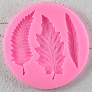 XRZH Bricolage Arbre Feuille Silicone Moule Gâteau Décor Fondant Gâteau 3D Feuilles Moule en Silicone