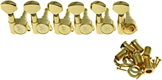 Wilkinson 6 Inline Gold E-Z Post Guitar Tuners EZ Post Guitar Tuning Keys Pegs Guitar Machine Heads for Strat Tele