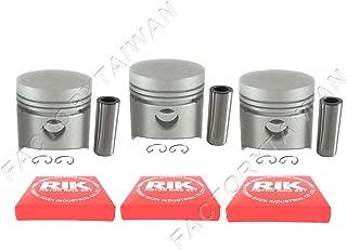 Evergreen PA10-843.STD Fits 03-09 Mazda 3 6 Ford Fusion Mercury Milan 2.3L DURATEC Engine Piston Set Standard Size