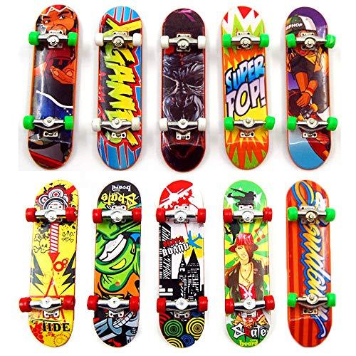 Kungfu Mall 10 Stück Mini Finger Skateboard Spielzeug Deck Truck Griffbrett Junge Kind Spielzeug Kinder Griffbretter (10 Stück)
