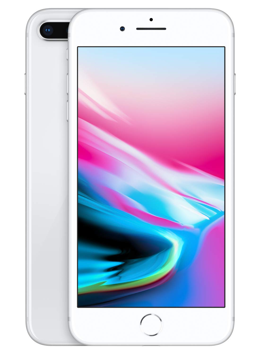 Apple iPhone 8 Plus [128GB, Silver] + Carrier Subscription [Cricket Wireless]
