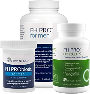 FH PRO Daily Essentials Bundle for Sperm Count and Motility, Daily Fertility Prenatal Nutrient Support, Probiotic Support ...