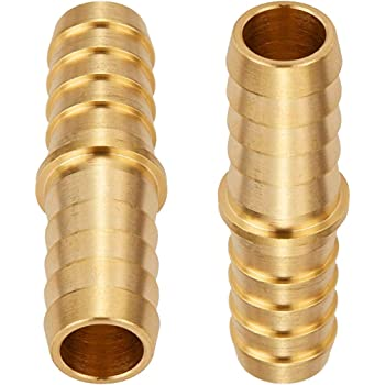 "3//8/"" x 1//4/"" Brass Barbed Reducer//Splicer Hose Adaptor Fitting #2"