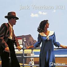 Jack Vettriano 2021 – vägg-kalender – minibroschyrkalender – 17,5 x 17,5 – 17,5 x 35 öppen – konstkalender