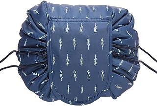 حقيبة مكياج هادئ ذات سعة كبيرة، تستخدم كحقيبة ادوات تنظيف وحقيبة تخزين وحقيبة سفر ويمكن حملها بسهولة ومزودة برباط سريع ومض...