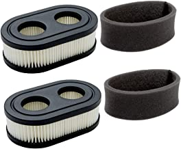 HEYZLASS 2Pack 593260 798452 Air Filter Cartridge with Pre Cleaner - for Briggs & Stratton 550E 550EX Engine Troy-Bilt Craftsman Murray Toro Push Walk-Behind Lawn Mower