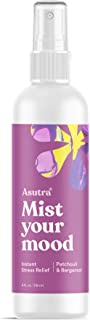 ASUTRA Patchouli & Bergamot Organic Essential Oil Blend, Aromatherapy Mist, 4 fl oz   for Face, Body, Rooms, Linens   Relieves Stress & Anxiety   Breathe Easy & Melt Tension Away