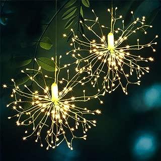 Renqian Luces De Cuerda Luces De Fuegos Artificiales Luces De Hadas Regulables Luces De Control Remoto Luces Colgantes De Starburst Para Fiestas Decoración De Navidad Al Aire Libre-Fuegos Artificiales