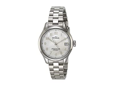 Shinola Detroit 32 mm Vinton 3HD (White/Mother-of-Pearl Silver) Watches