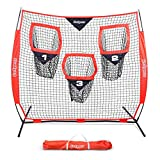 GoSports 6' x 6' Football Training Target Net | Improve QB Throwing Accuracy – Includes Foldable Bow Frame and Portable Carry Case
