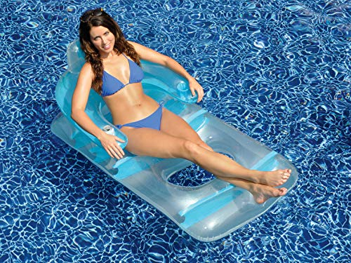 Swimline Deluxe Lounge Chair Colors May Vary (Pink or Blue)