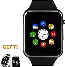 Smart Watch, Touch Screen Smartwatch Smart Wristwatch for Men Women with Call Text SD..