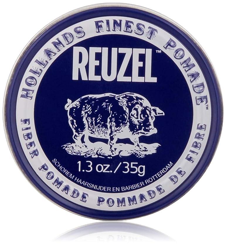 でも偶然のもろいREUZEL INC Reuzelナチュラルフィニッシュ繊維ポマード、1.3オンス 1.3オンス 濃紺