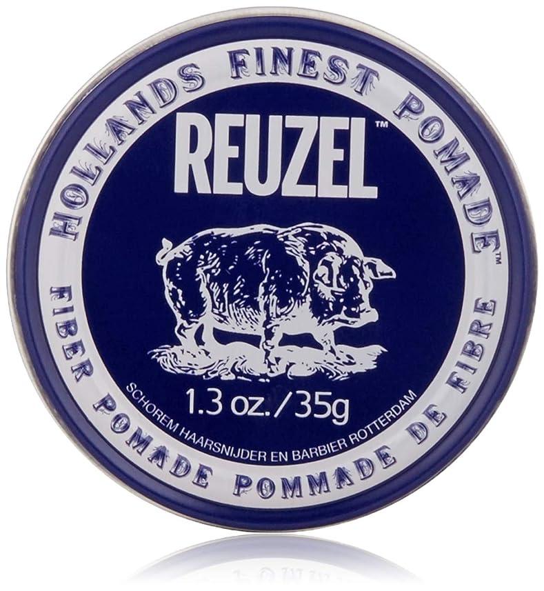 修正する懺悔羽REUZEL INC Reuzelナチュラルフィニッシュ繊維ポマード、1.3オンス 1.3オンス 濃紺